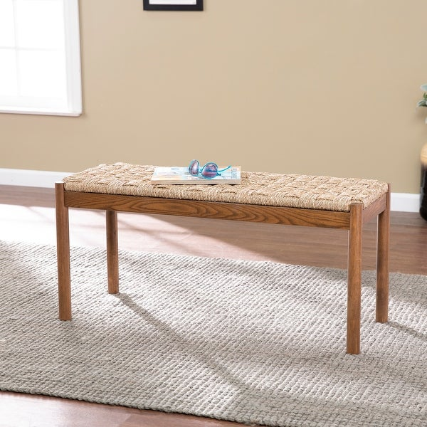 Harper Blvd Scotts Coastal Brown Wood Bench