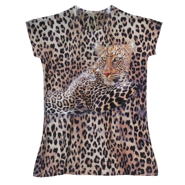 Shop What On Earth Women S Leopard T Shirt Top Animal