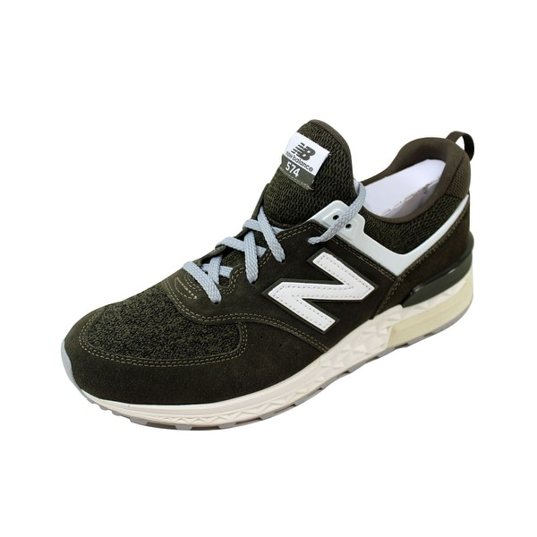 best service 83435 6d670 Shop New Balance Men's 574 Sport Green/White MS574BM - Free ...