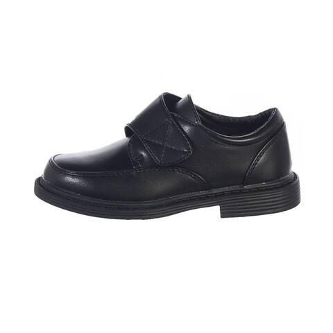 Toddler Boys Black Velcro Matte Special Occasion Dress Shoes 5-10