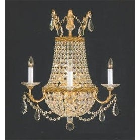 Swarovski Elements Crystal Trimmed Sconce Empire Crystal Wall Sconce Lighting