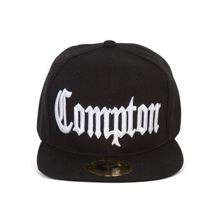 Gravity Compton California Front and Back Embroidered Snapback Hat - Black