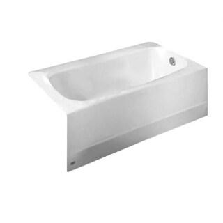 "American Standard 2460.002TC Cambridge 60"" Americast Soaking Bathtub with Left Hand Drain and Tub Cover - Lifetime Warranty"