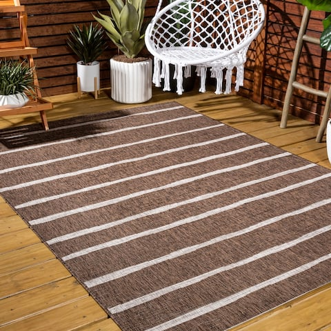JONATHAN Y Colonia Berber Stripe Indoor/Outdoor Area Rug