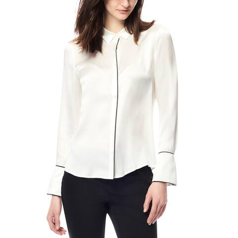 Ecru Silk Blouse