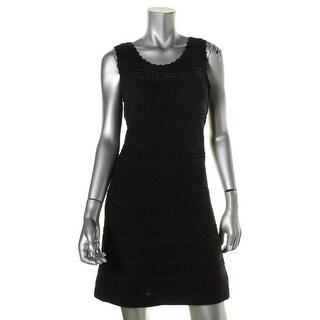 Calvin Klein Womens Petites Casual Dress Sleeveless Crocheted