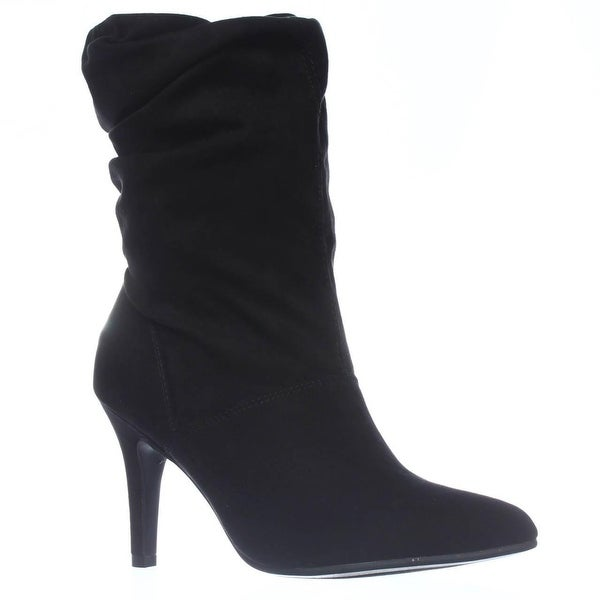 Shop Sc35 Adelay Mid Calf Dress Boots Black On Sale Free