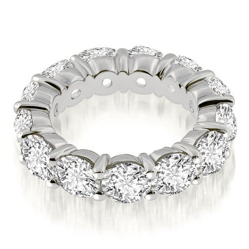 4.50 cttw. 14K White Gold Classic Round Cut Diamond Eternity Band Ring