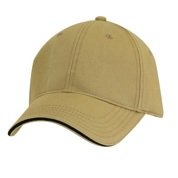 Dorfman Pacific Cotton Adjustable Structured 6 Panel Baseball Cap