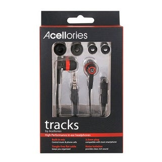 Premium Acellories Tracks Earbuds - All Black