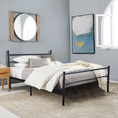 VECELO Metal Platform Bed Frame with Headboard and Footboard