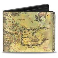 The Lord Of The Rings Middle Earth Map Tans Bi Fold Wallet - One Size Fits most