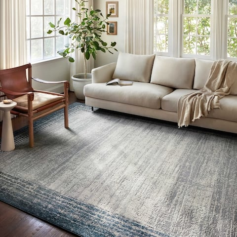 Alexander Home Grant Modern Abstract Border Area Rug
