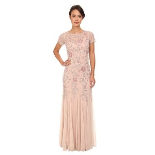 Adrianna Papell Women's Floral Beaded Godet Gown (More options available)