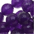 Amethyst Gemstone Beads Purple 10mm Faceted Round (15.5 Inch Strand) - Thumbnail 0