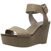 Vince Camuto Womens Valamie Leather Open Toe Casual Platform Sandals