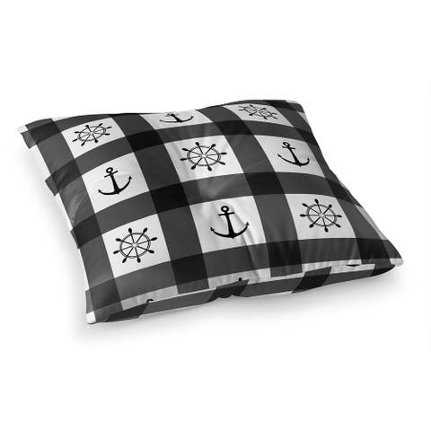 ANCHOR GALORE BLACK and WHITE Floor Pillow by Kavka Designs