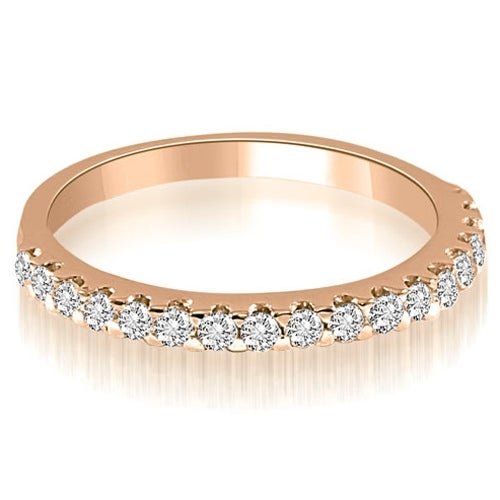 0.30 cttw. 14K Rose Gold Classic Round Cut Diamond Wedding Band