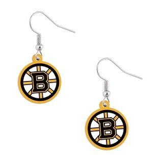 Boston Bruins Dangle Logo Earring Set Nhl Charm Gift