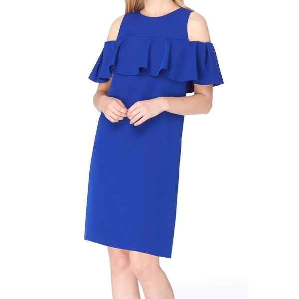 406686c7f8dd Shop Tahari by ASL Womens Petite Cold-Shoulder Shift Dress - Free Shipping  Today - Overstock - 21837392
