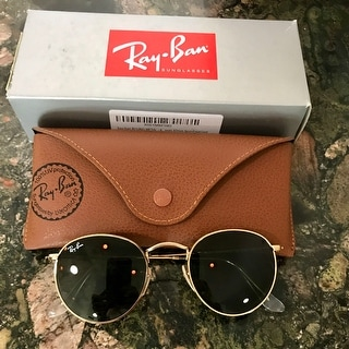 3ab30e135 Ray-Ban Round Metal RB 3447 001 Arista Gold Round Metal Sunglasses - 50mm