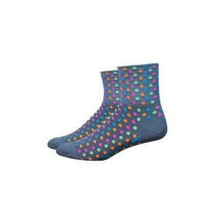DeFeet Aireator Hi-Top 4in Sock Spotty Grey/Multi, S - Men's