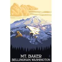 Mt Baker, WA - LP Artwork (100% Cotton Towel Absorbent)