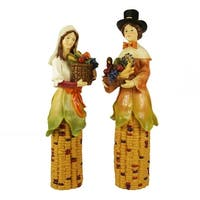 Pack of 2 Pilgrim Autumn Harvest Table Top Decorations 10.5""