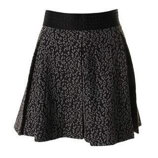 Juicy Couture Black Label Womens Jacquard Box Pleat A-Line Skirt - L