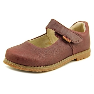 Pediped Flex Ann Flex Youth Round Toe Synthetic Burgundy Mary Janes