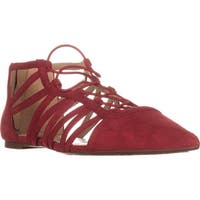 MICHAEL Michael Kors Clarissa Pointed-Toe Flats, Bright Red - 8 us / 38.5 eu