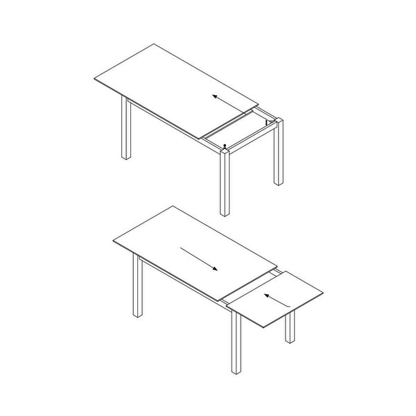 LARA Glass Top Extendable Dining table
