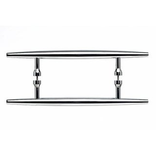 Top Knobs M851-8pair Nouveau Collection 8 Inch Center to Center Polished Chrome Back to Back Door Pull Pair