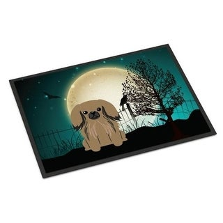 Carolines Treasures BB2292JMAT Halloween Scary Pekingnese Tan Indoor or Outdoor Mat 24 x 0.25 x 36 in.