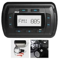 Marine Bluetooth Radio Receiver - Water Resistant Stereo Headunit, MP3/USB/AUX