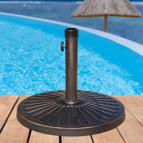 Maypex 27 LBS Heavy Duty Case Stone Umbrella Base Bronze