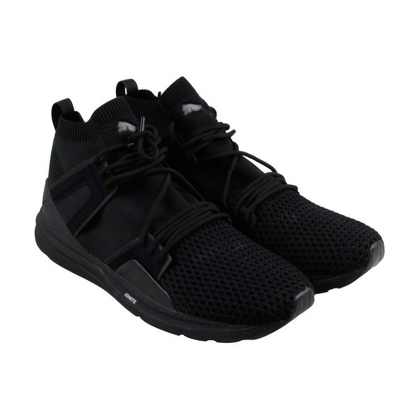 Puma B.O.G Limitless Hi Evo Knit Mens Black Mesh Athletic Training Shoes