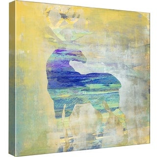 """PTM Images 9-98897  PTM Canvas Collection 12"""" x 12"""" - """"Sunset Stag"""" Giclee Deer Art Print on Canvas"""