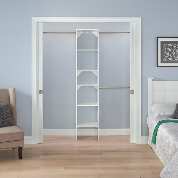 ClosetMaid SuiteSymphony Starter Closet 16-inch Wide Tower Kit. Opens flyout.