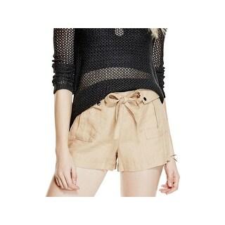 Guess Womens Gabi Shorts Linen Woven
