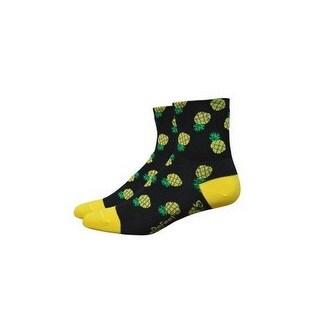 DeFeet Aireator 3in Sock - Women's Pineapple-Black/Green/Yellow, L
