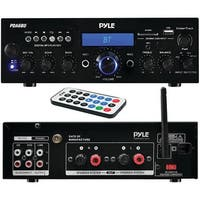 PYLE HOME PDA6BU 200-Watt Bluetooth(R) Stereo Amp Receiver with USB & SD(TM) Card Readers