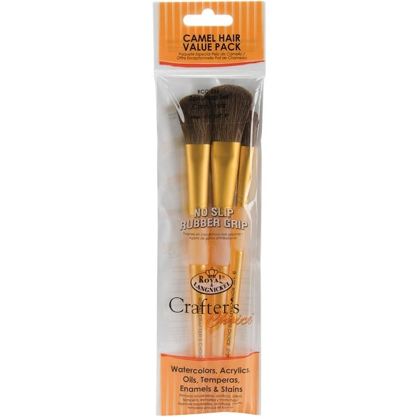 Crafter's Choice Camel Brush Set-3/Pkg