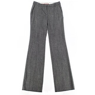 MAXMARA STUDIO NEW Gray Women's Size 4 Flat Front Wool Dress Pants