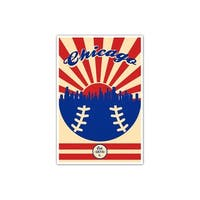 Chicago - Vintage MLB - 24x36 Gallery Wrapped Canvas Wall Art