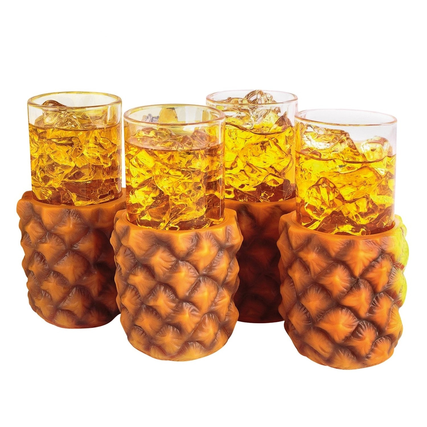 """Free Shipping 7/"""" TALL 8 oz Luau Party 6 PINEAPPLE  CUPS"""