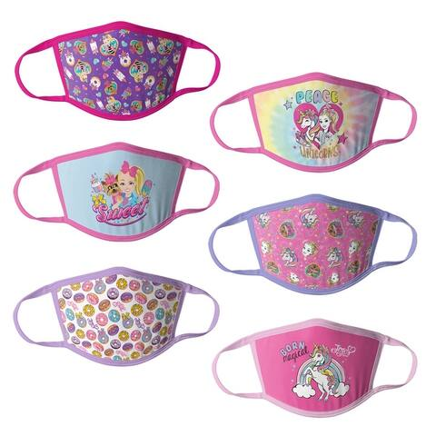 JoJo Siwa Girls Kids Face Masks - 6pk
