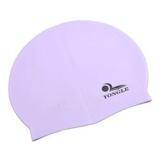 Unique Bargains Unique Bargains Adults Light Purple Silicone Skin Antislip Stretchy Surfing Swimming Cap
