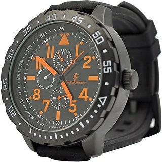 Smith & Wesson Calibrator Watch Orange, Rubber Strap 51mm 5ATM - Black