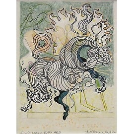 Etude Libra, Original Drawing, Guillaume Azoulay, FRAMED